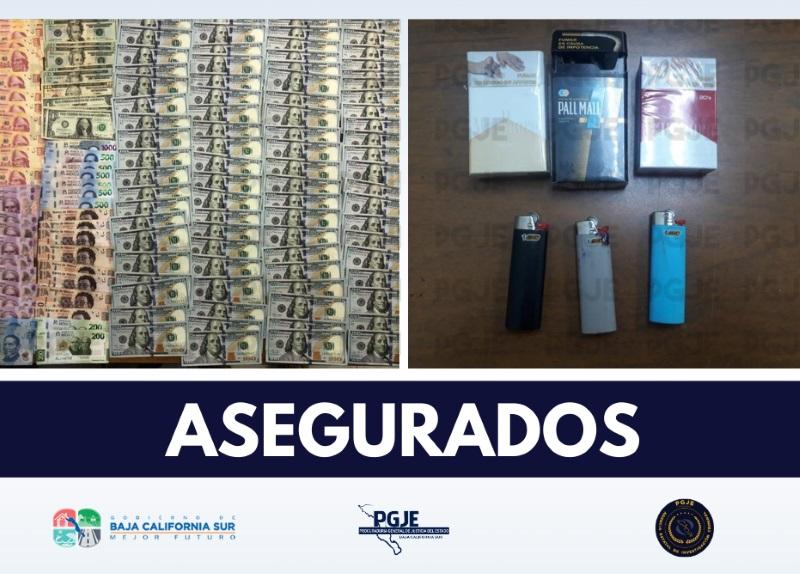 Catea PGJE vivienda en Mulegé; asegura 11 mil 713 dólares y 18 mil 100 pesos