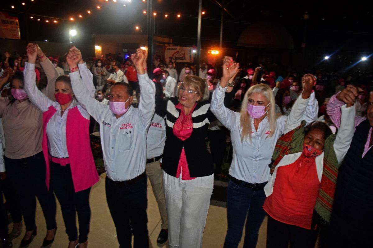 Pide Ernesto Ibarra voto para Elizabeth Wayas de Fuerza por México