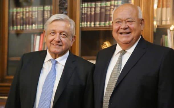 Encuentro fraterno y productivo entre Andrés Manuel López Obrador y Víctor Castro Cosío en Palacio Nacional