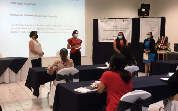 Imparten talleres sobre derechos sexuales y corresponsabilidad familiar