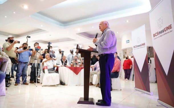 """""""Respetuosos de la libertad de expresión, abierto a la crítica para unir a Baja California Sur"""": Víctor Castro"""